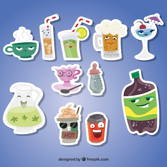 Fun pack of drinks stickers