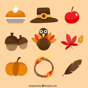 Fun pack of thanksgiving elements