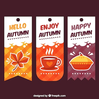Fun set of autumn labels