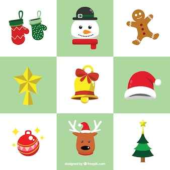 Fun set of christmas ornaments