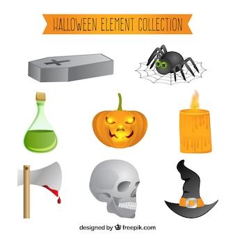 Fun set of classic halloween elements