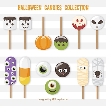 Fun set of halloween lollipops