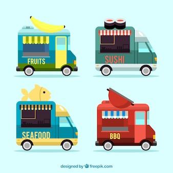Fun variety of flat food trucks