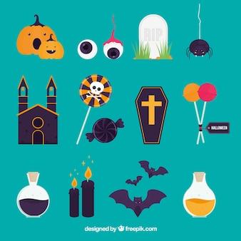 Fun variety of halloween elements