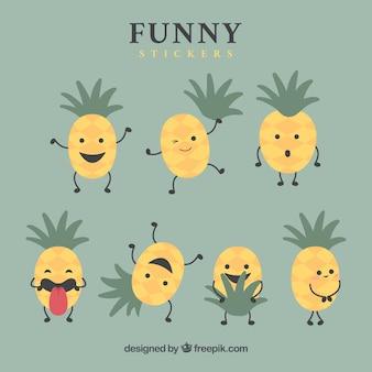 Fun variety of pinapple stickers