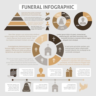 Funerals infographic template