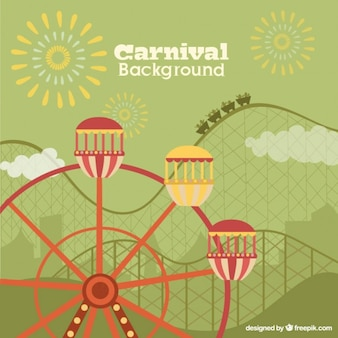 Funfair flat background