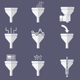 Funnel icons collection
