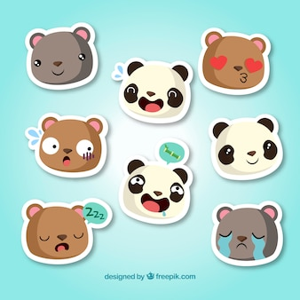 Funny animal stickers collection