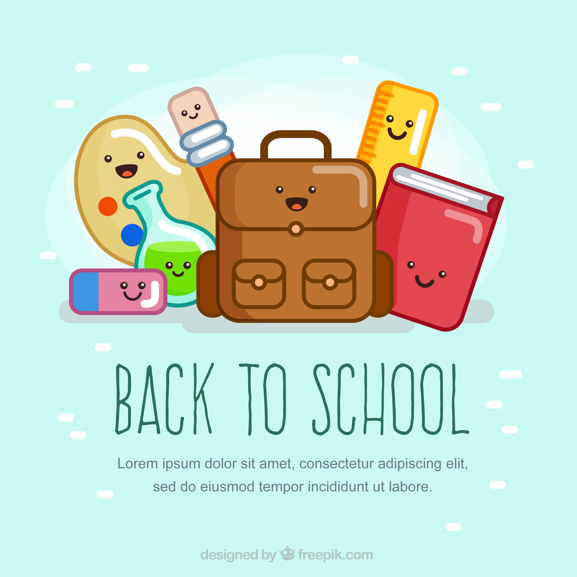 Funny back to school background