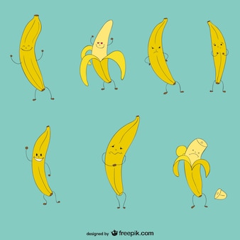 Funny bananas collection