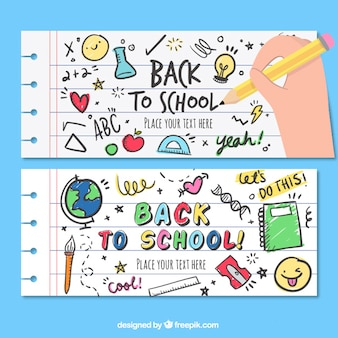Funny banners for back to school