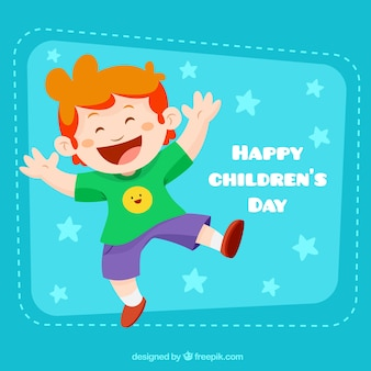Funny boy illustration for chrildren's day