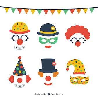 Funny carnival costumes pack