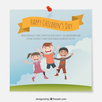 Funny children's day card