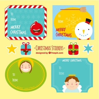 Funny christmas stickers