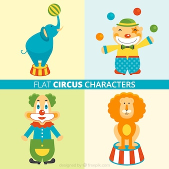 Funny circus characters pack