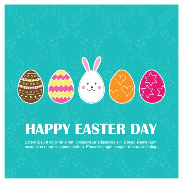 Funny colorful easter card