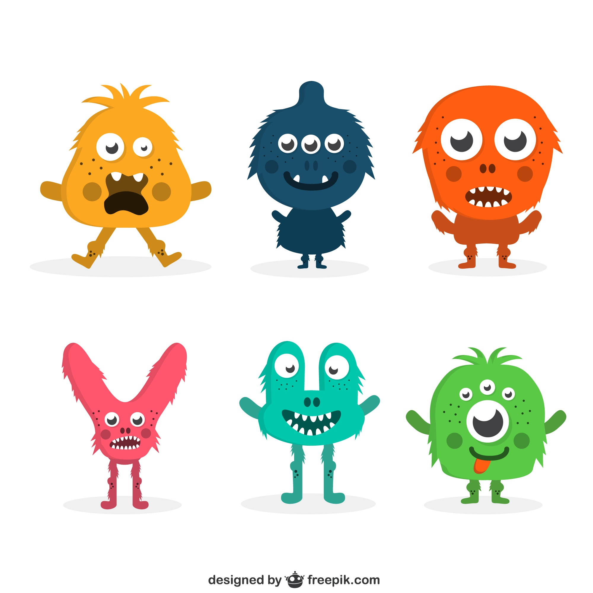 Funny colorful monster collection