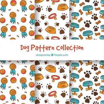 Funny dog pattern collection
