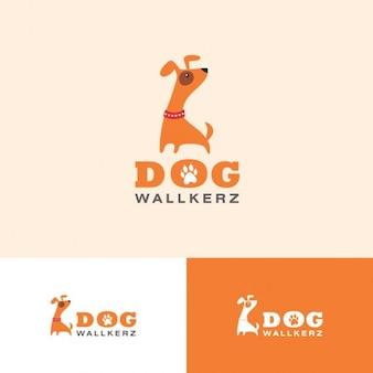 Funny dog walkers Logo