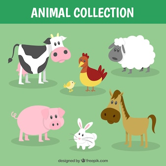 Funny farm animal collection
