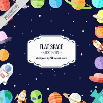 Funny flat space background