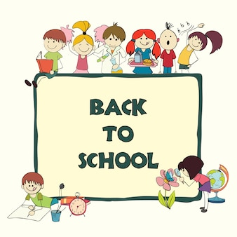 Funny frame for back to school
