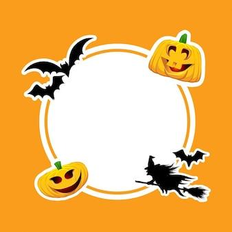 Funny frame for halloween