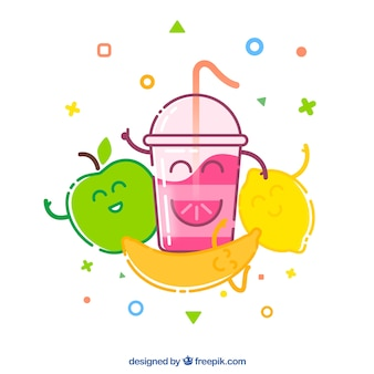 Funny fruit background