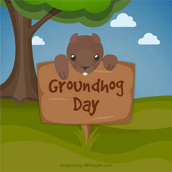 Funny groundhog background