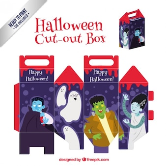 Funny halloween cut out box