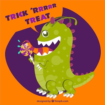 Funny halloween monster