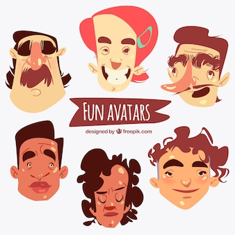 Funny hand drawn avatars