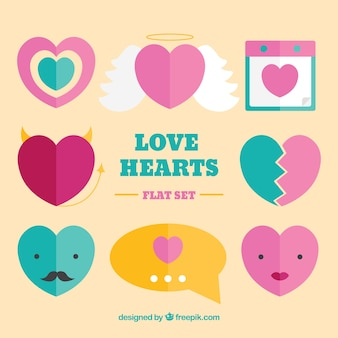 Funny hearts pack