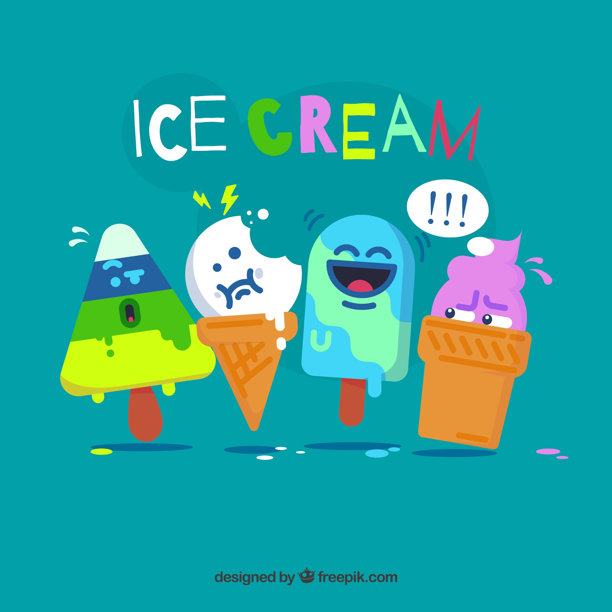 Funny ice cream characters