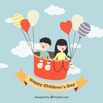 Funny illustration of children's day
