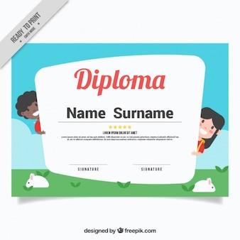 Funny kids diploma
