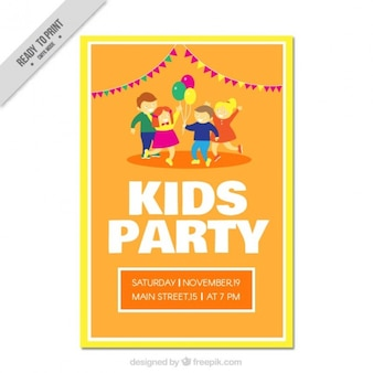 Funny kids party invitation