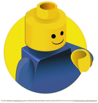 Funny lego toy vector