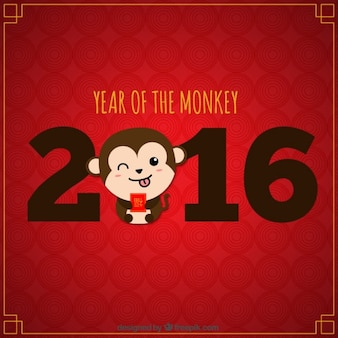 Funny monkey new year background