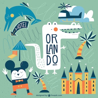 Funny Orlando illustration
