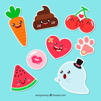 Funny pack of original stickers