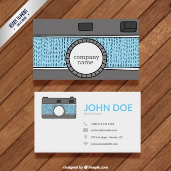 Funny photography business card