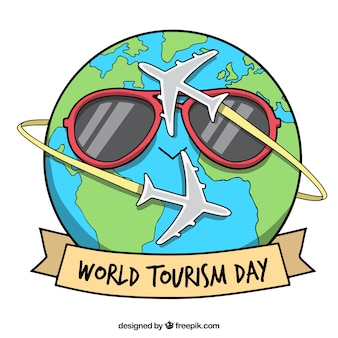 Funny planet earth for the world tourism day