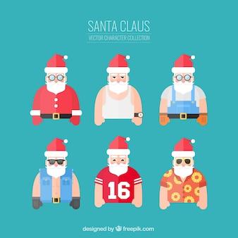 Funny santa claus characters