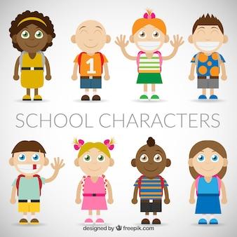 Funny school characters