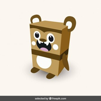 Funny squared bear