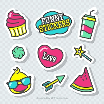 Funny stickers with cute style