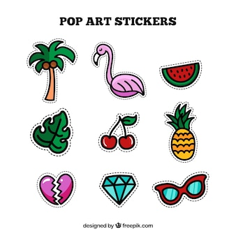 Funny stickers with original style